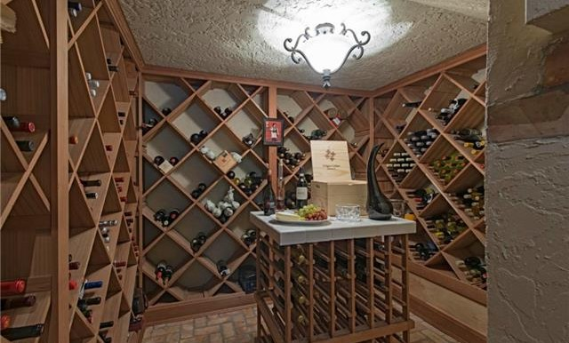 Walk-in wine cellar off the dining rom.