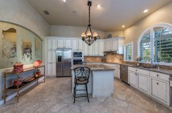 Beautifully renovated spacious kitchen.